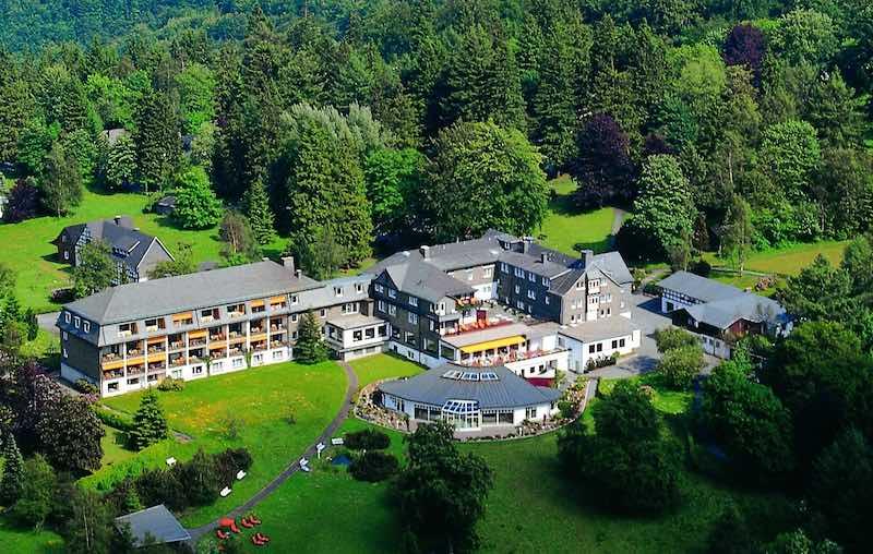 Hotel aus der Luftperspektive